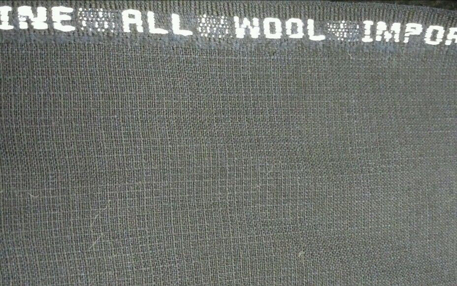 7.5 Yard Navy Blue Pkay Italian Wool Super 130'S Desinger Suit Fabric MSRP$950
