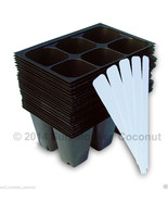 Seedling Starter Trays: 144 Cells + 5 Plant Labels Seed Germination Flat... - $6.95
