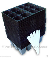 720 Cells Seedling Starter Trays, Seed Germination +5 Plant Labels; 10x2... - $18.99
