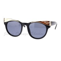 Women's Designer Sunglasses Chic Metal Top Round Cateye Frame - $7.87+