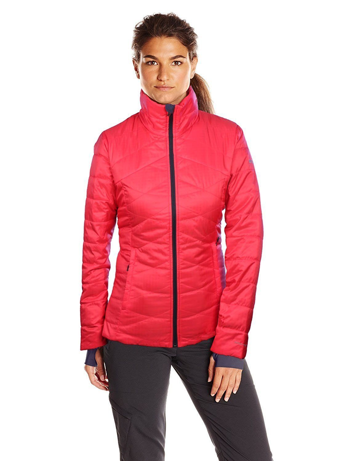 new columbia women New columbia morning light omni-heat insulated jacket womens m white this beautiful jacket is lightweight but warm, due to the omni-heat lining and insulation.