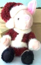 "Boyds Bears ""Santa Piglet"" #94968DS- 10"" Disney Exclusive -RARE- 1999 -NWT - $49.99"