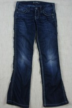 "Silver Jeans Womens Frances ..18""___ Straight Leg Dark Wash Sz 24 X 31 - $27.89"