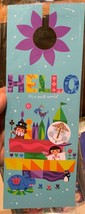 "Disney Parks Exclusive It's A Small World ""Hello"" Door Knob Hanger Sign New - $16.65"