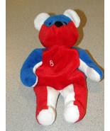 Salvino's Bamm Beano's Beanie Babies NASCAR#8 Ripken Jr.Teddy Bear Red &... - $8.79