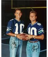 jim zorn steve largent autograph seattle seahawks football rare photo ch... - $299.99