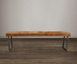 Reclaimed Wood Beam Bench - Tube Steel Legs - Free Shipping - $275.00+