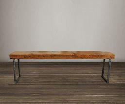 Reclaimed Wood Beam Bench - Tube Steel Legs - Free Shipping - $275.00 - $385.00