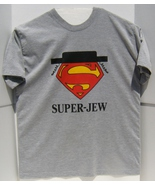 Pre-Owned DC Superman Super-Jew Logo Short Sleeve Graphic T-Shirt Medium... - $11.95