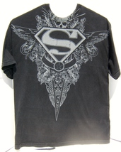 Pre-Owned DC Superman Skull Logo Short Sleeve Graphic T-Shirt XL Size All Cotton - $16.95