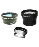 Wide +Tele Lens +Hood with Adapter Ring Tube bundle for Fuji FujiFilm X1... - $53.92