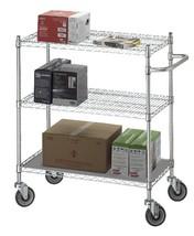 Linen Cart 18x36x42 w/Solid Bottom 16 gauge Chrome Plated Shelf Model UC... - $230.38