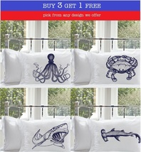 Buy 3 Get 1 Free Nautical Pillowcase Pillow case select from any design we offer - $39.99