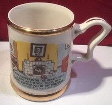 Vintage 1950s Novelty Big Mug - Poem - Your Supper Is On The Hearth Dear... - $7.87