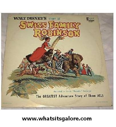 Disney LP record Swiss Family Robinsons
