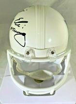ARCHIE, PEYTON & ELI MANNING / TRIPLE AUTOGRAPHED NFL LOGO MINI HELMET / STEINER image 5