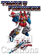 Transformers T-shirt Transfer Design Printable DIY INSTANT DOWNLOAD Star... - $2.99