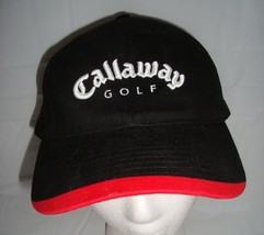 Callaway Big Bertha Ti 454 Black Red Baseball Cap Strapback Hat One Size - $24.95