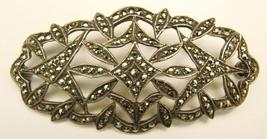 PAVE STERLING & MARCASITE PIN - $190.00