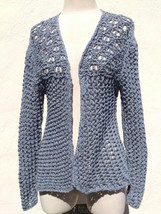High quality sweater Knite top, gray color, size L - $49.00