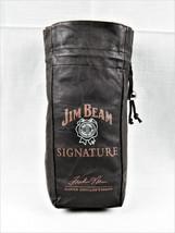 Jim Beam Signature Brown Leather Drawstring Bottle Bag Master Distiller's Series - $6.95