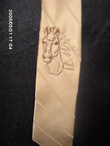 light brown silk western neck tie - $20.00