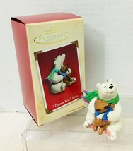 2002 Thank You Hug Hallmark Christmas Tree Ornament MIB Price Tag - $14.36