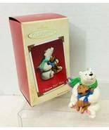 2002 Thank You Hug Hallmark Christmas Tree Ornament MIB Price Tag - $14.36