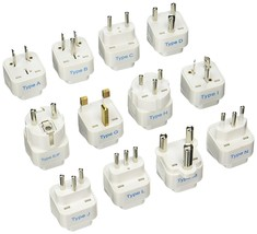 Ceptics GP-12PK International Travel Worldwide Grounded Universal Plug A... - $22.28