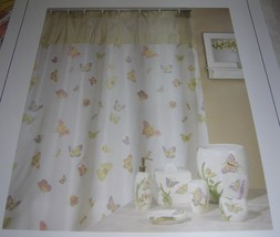 """Creative Products Fabric Shower Curtain Madame Butterfly Multi Country 72""""X72"""" - $24.99"""