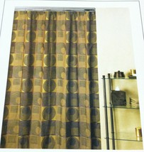 FABRIC SHOWER CURTAIN URBAN CHIC-GOLD COLOR CREATIVE BATH PRODUCTS MODERN - $24.99