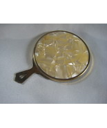 mother of pearl hand mirror perfect for purse - $11.00