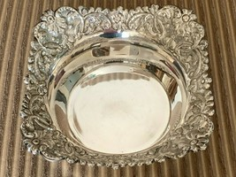 Spectacular Vintage Repousse Silver 270 Grams Art Nouveau Floral Bowl - $299.00
