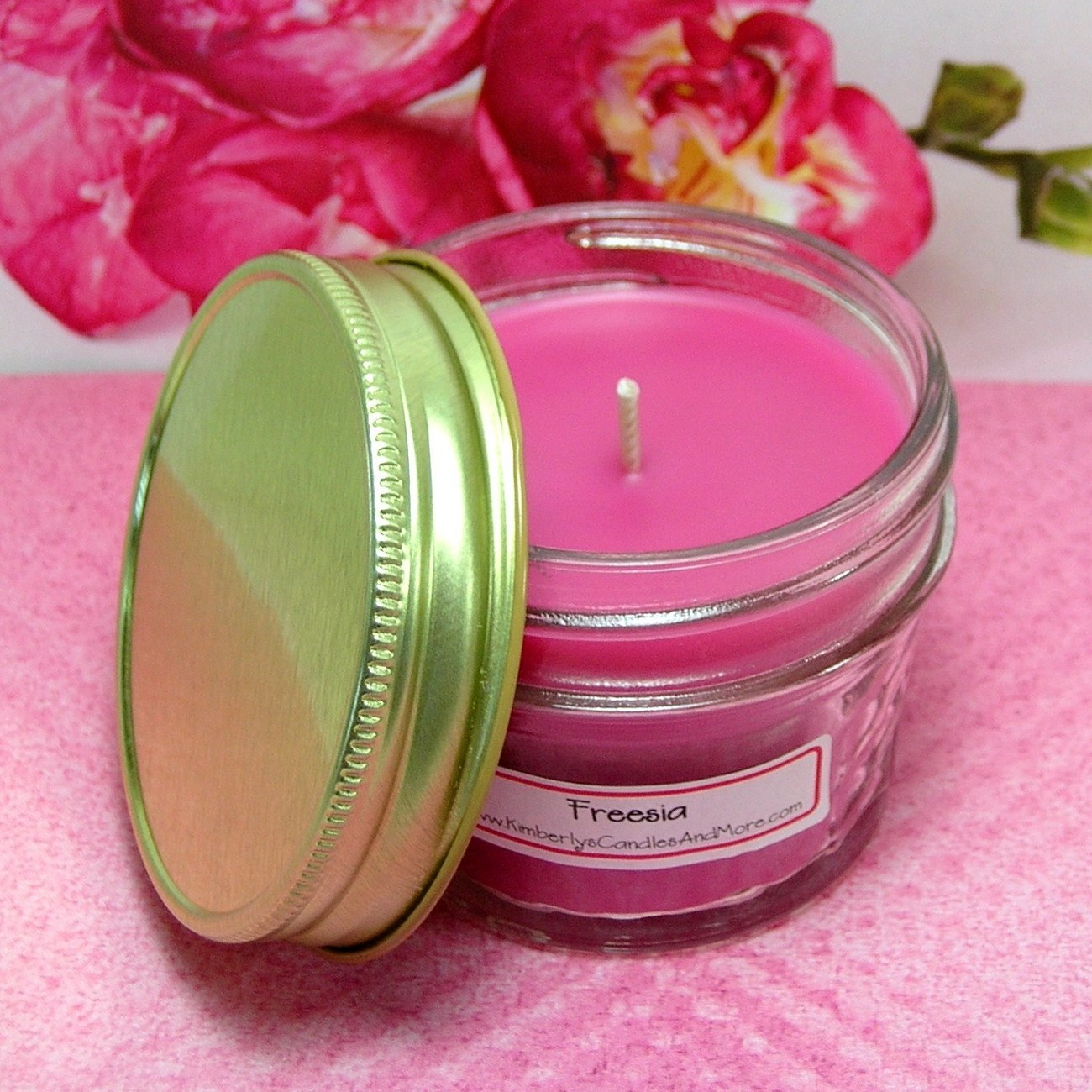 Freesia  4 oz Jelly Jar Candle