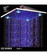 Cascada 12 Inch Square Rainfall LED Shower Head (4 Large Lights @ Corner... - $178.15