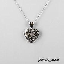 Sterling Silver Heart Pendant with Swiss Marcasite - $29.65