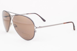 Tom Ford Peter Gunmetal / Brown Sunglasses TF142 10J - $195.02
