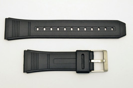 22mm Watch  BAND Strap Fits CASIO DBC-62 Data Bank Black Rubber  - $11.45