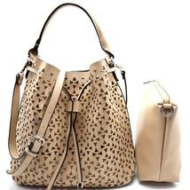 Handbag Republic Perforated Drawstring Hobo + Pull-out Crossbody w/ Stra... - $53.98