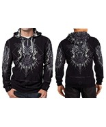 BLACK PANTHER LOGO HOODIE FULLPRINT MEN - $46.80