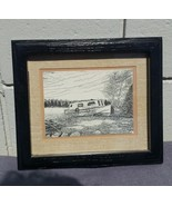 John Geerts -- Pen and Ink Drawing - Earned Rest -- Great Canadiana - $85.00