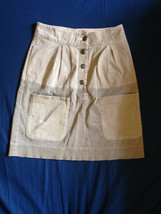 See by Chloe Cotton Blend Tan Denim Skirt SZ 4 Made in Italy - $44.55