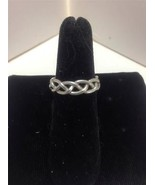 STERLING SILVER Braided Wire Band Ring Sz 5.75 ... - $7.83
