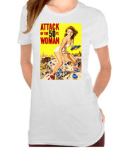 Attack of the 50 Foot Woman Men's Vintage, Retro Ladies T-Shirt - $12.00