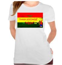 "Fri""High"" Day Rasta Raggae Ganja Jamaican Ladies T-Shirt - $12.00"