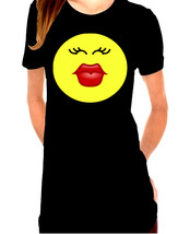 Kiss Face,Smiley Face,Red Lipstick Ladies T-Shirt - $12.00