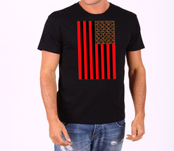 Leopard American Flag Men's T-Shirt - $12.00