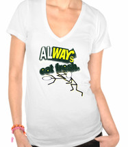 Funny,Fun,Spoof Ladies V-Neck T-Shirt - $12.00