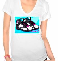 Jordan 7 (VII) Inspired Ladies V-Neck T-Shirt - $12.00