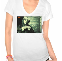"""Nas,Rapper,Hip Hop,Illmatic Stylish """"Vintage Look"""" Inspired Ladies V-Neck T-Shir - $12.00"""